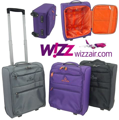 small cabin baggage wizzair wizz air cabin luggage trolley bag lightweight