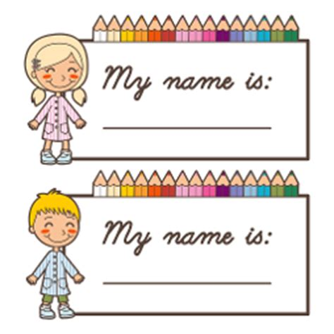 english worksheets name tags girls free printable name tags for children s church kids