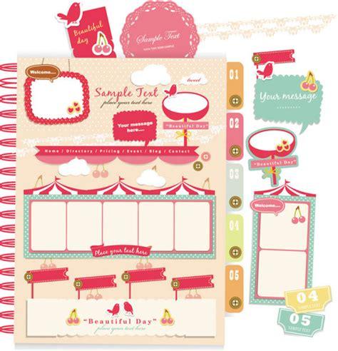 Fancy Pink Sticker Stiker Label Pengiriman set of pink label stickers vector free vector in