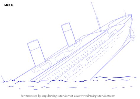 sinking boat drawing learn how to draw titanic sinking boats and ships step