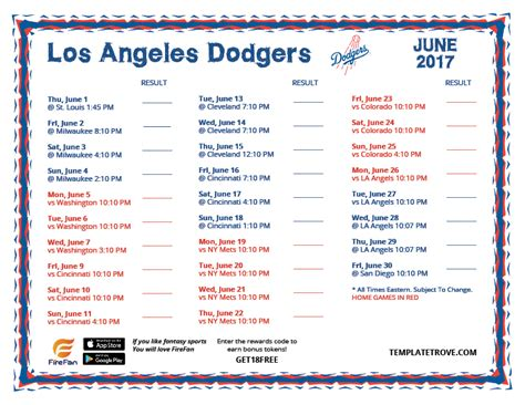 printable dodgers schedule autos post