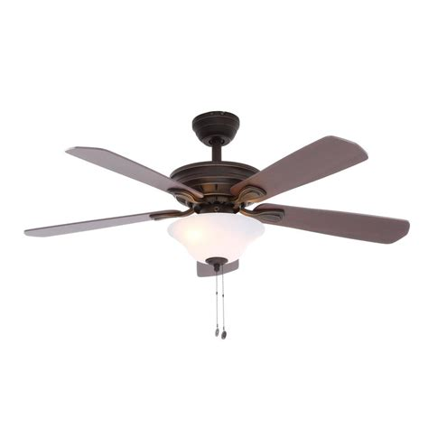 rubbed bronze ceiling fan light kit hton bay wellston 44 in led indoor rubbed bronze