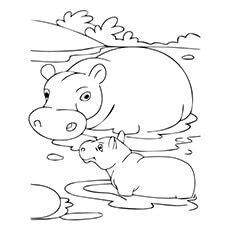 hungry hungry hippos coloring page 10 cute free printable hippo coloring pages for toddlers