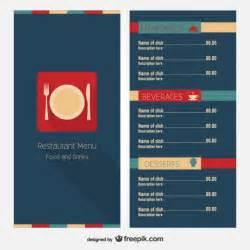 Menu Layout Templates Free by Modern Restaurant Menu Template Vector Free