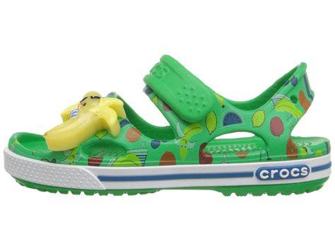 crocs crocband ii banana led sandal toddler kid grass green zappos free