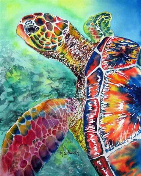 colorful turtle wallpaper turtle painting on pinterest sea turtle painting sea