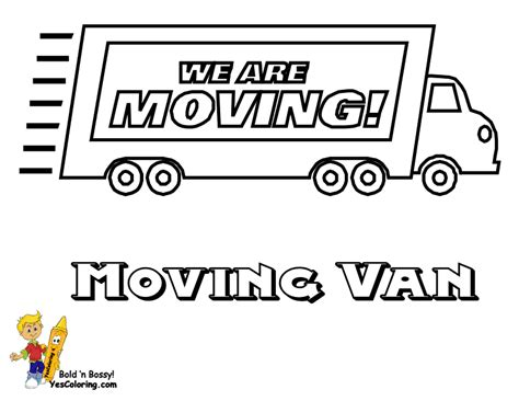 moving truck coloring page a moving colouring pages