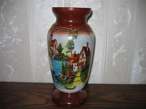 Vintage Glass Vases For Sale by Antique Vintage Glass Painting Floral Flower Vase Item 276 For Sale Antiques