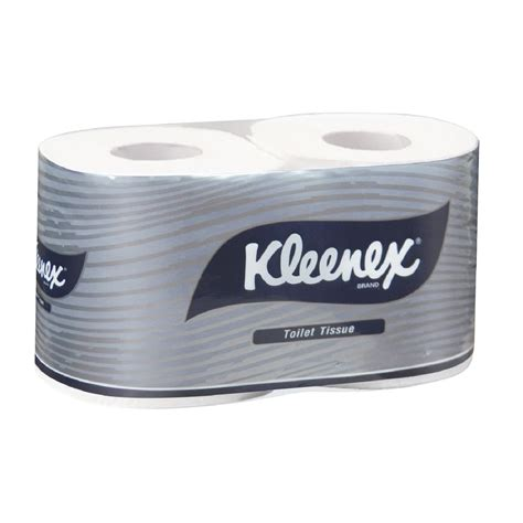 kleenex toilet roll kleenex 2 ply executive toilet paper roll 250 sheet 2 pack
