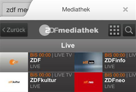 zdf mediathek im html format zdf livestream