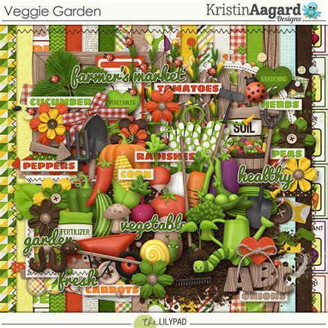 digital scrapbook kit veggie garden kristin aagard