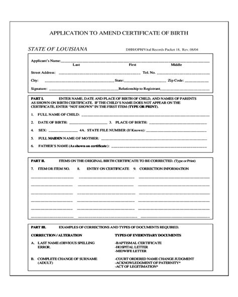 Minnesota Vital Records Birth Certificate Application Louisiana Certificate Of Birth Form Edit Fill Sign Handypdf