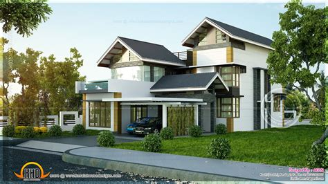House Plans Design Modern Sloping Land House Plans 2358