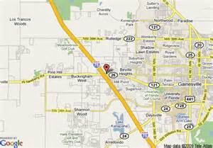 gainesville florida on map map of la quinta inn gainesville gainesville