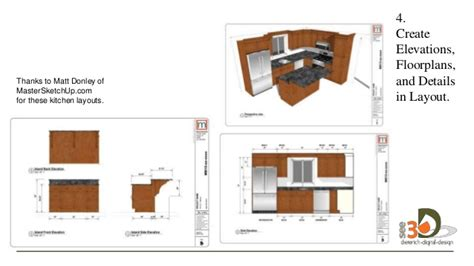 sketchup layout detail view kitchen design with sketchup
