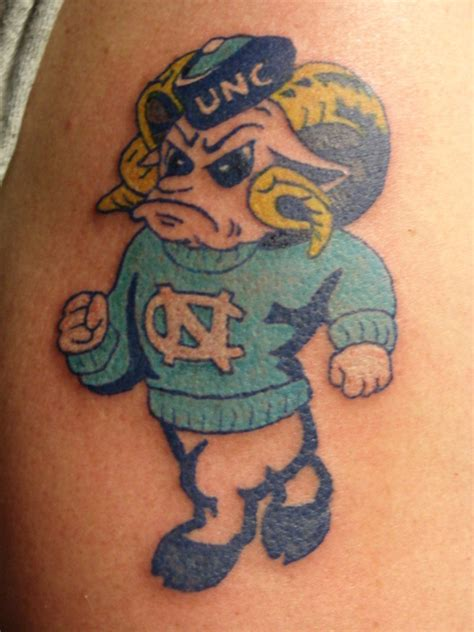 unc tar heels mascot rameses tattoo picture at