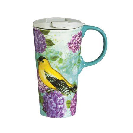 10 12 Ounce Coffee Mugs Ceramic - cypress home canary trio ceramic travel coffee mug 17
