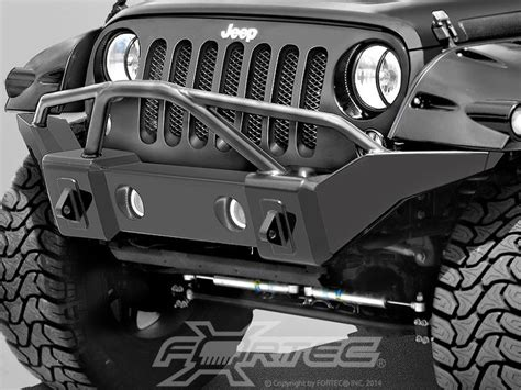 jeep bumper grill rage products marathon bumper in smooth black with
