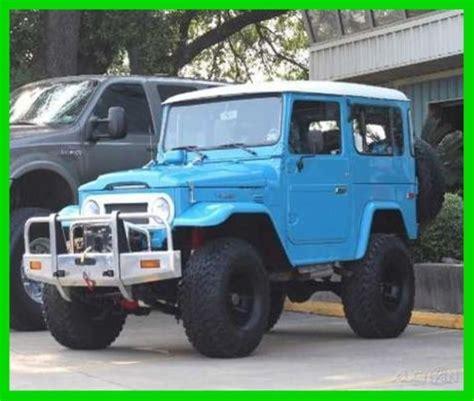toyota jeep 1980 1980 land cruiser fj40 cruiser 4wd suv sidewinder winch