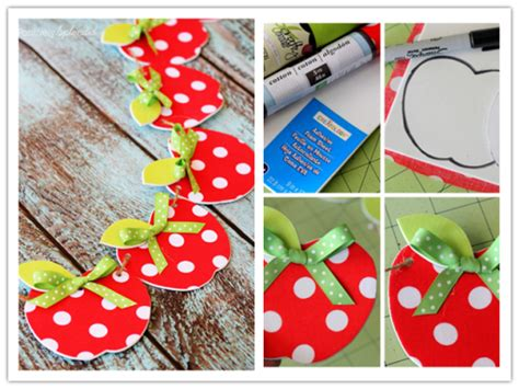 10 steps in 10 days to craft an diy fabric apple garland craft tutorial diy tag