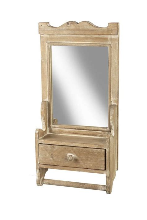 Mirror With Drawer by Wood Mirror With Drawer