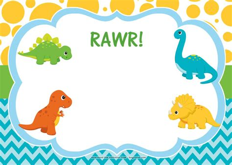 Dinosaur Invitation Template free dinosaur birthday invitations bagvania free