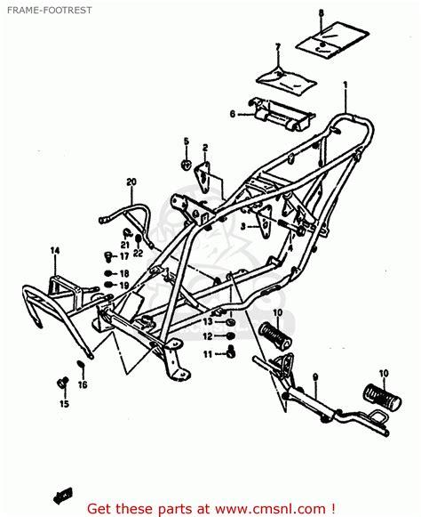 Suzuki Lt50 Service Manual Suzuki Lt50 1984 E Frame Footrest Schematic Partsfiche