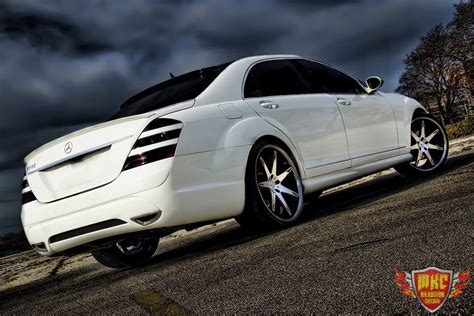Mercedes S550 Accessories by Custom Mercedes S550 Grille Smoked Lights Mr