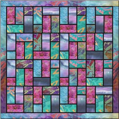 quilt pattern stained glass batik stained glass quilt pattern ludlow quilt and sew