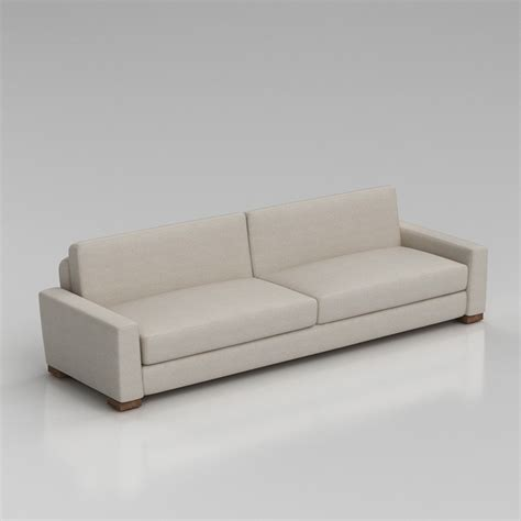 restoration hardware sectional sofa 3d restoration hardware maxwell sofa high quality 3d models