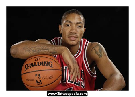 derrick rose tattoos derrick chest models picture