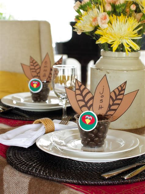 thanksgiving table favors adults thanksgiving place card and favor hgtv