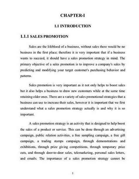 sles of dissertation proposals sales promotion pdf thesis