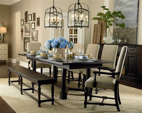 bassett dining room furniture custom turned post dining table by bassett furniture