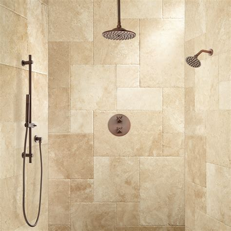 dual shower bisset thermostatic shower system dual shower heads and shower bathroom