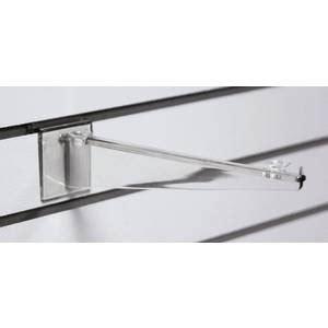 Slatwall Shelf Brackets 12 by 12 Quot Clear Slatwall Shelf Brackets Industrial
