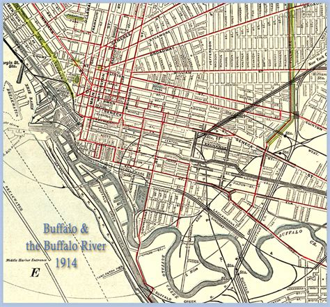buffalo map olmsted parks and parkways in buffalo 1914 at buffalo libraries