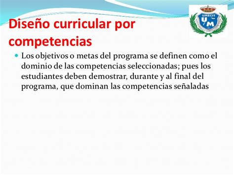 Diseño Curricular Por Competencias Universidad Presentacion De Curriculum Por Competencia