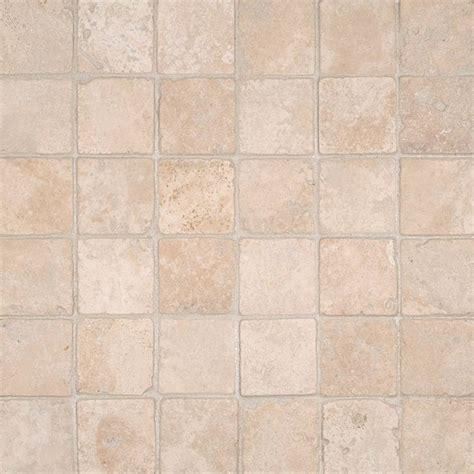 durango cream 2x2 tumbled in 12x12 mesh stone backsplash tiles