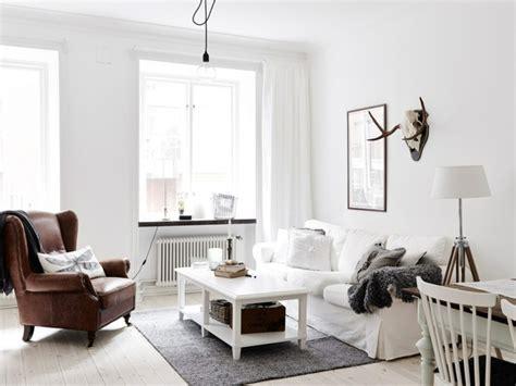 decordots scandinavian interiors white leather sofa living room