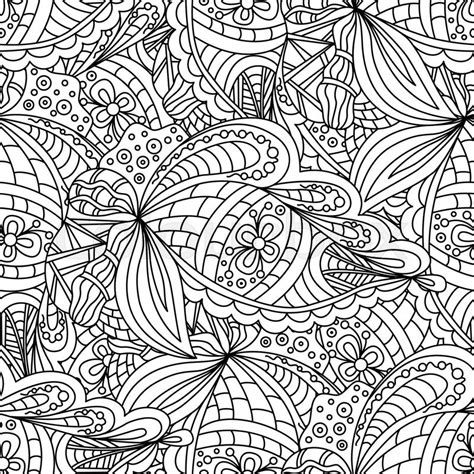pattern design wrapper seamless black and white doodle pattern background
