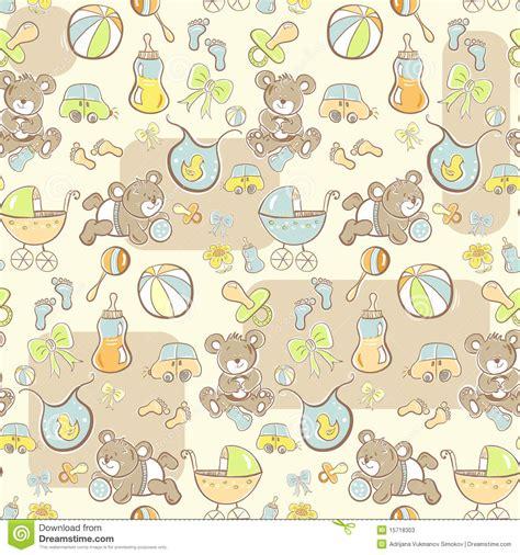 seamless pattern baby seamless baby boy pattern cartoon vector cartoondealer