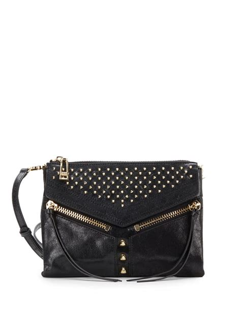 Botkier Black Ruched Purse by Lyst Botkier Legacy Studded Leather Crossbody Bag In Black