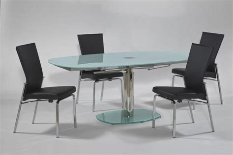 frosted glass dining room table oval frosted extendable dining table oakland california chtas