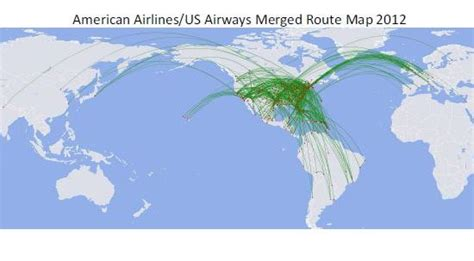 usair route map american us airways merger what a combined route map