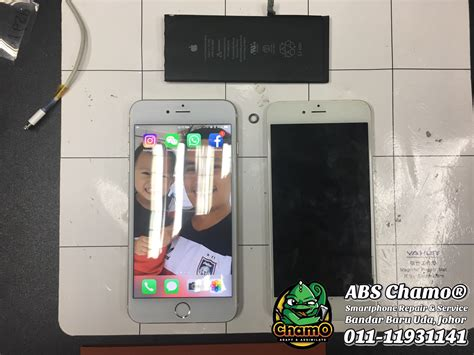 Tukar Lcd Iphone 6 lcd battery iphone 6 plus replacement chamo johor bharu