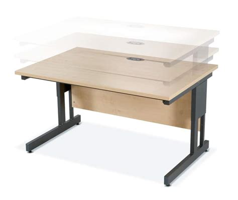 Office Desk Adjustable Height Height Adjustable Desks Blueline Office Furniture