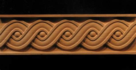 Wood Panelling frieze running coin weave decorative carved wood molding