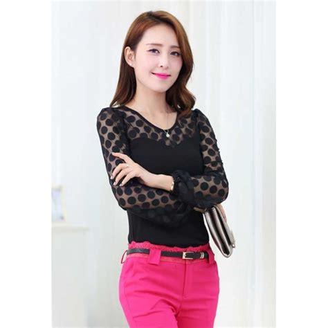 Blouse Wanita Lengan Panjang blouse wanita lengan panjang t1635 moro fashion