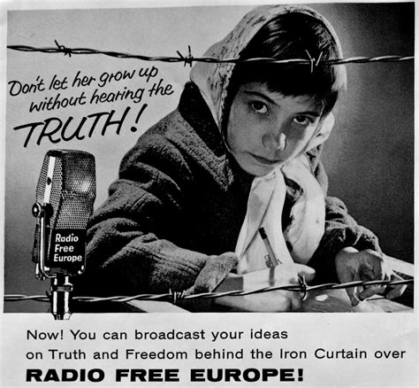 Iron Curtain Political Cartoons Overview Of Radio Free Europe S First Broadcast On 4th